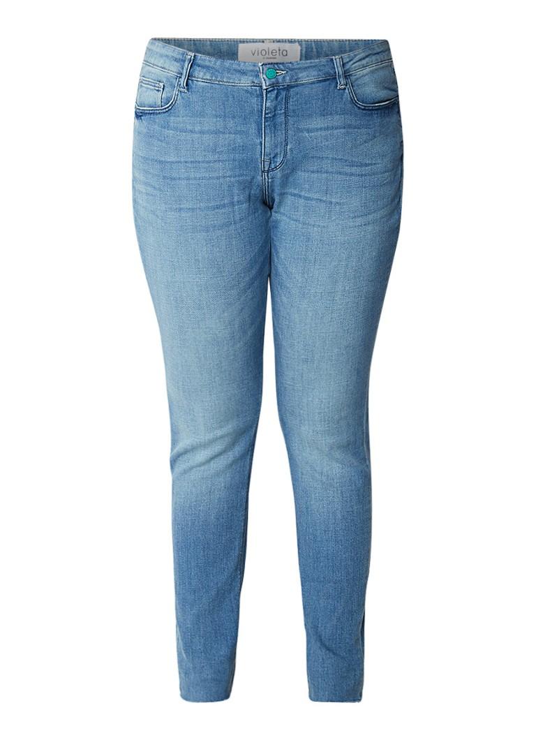 MANGO Alba low rise super slim fit jeans met lichte wassing