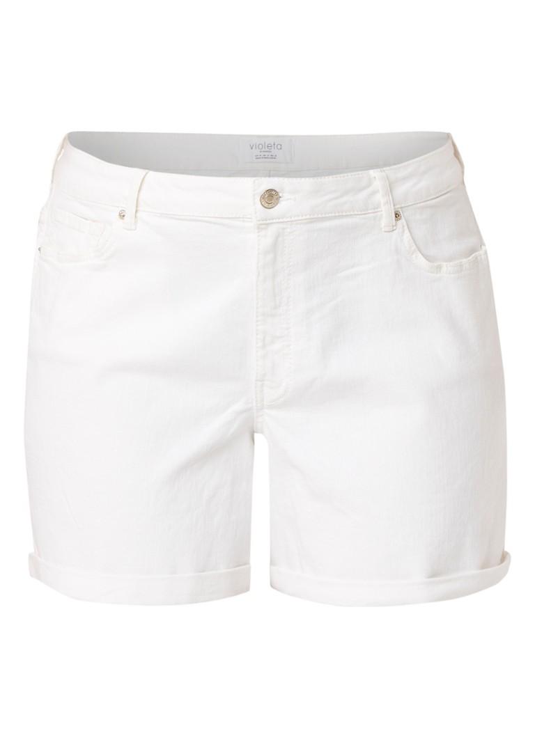 MANGO Vicky denim shorts met omgeslagen zoom