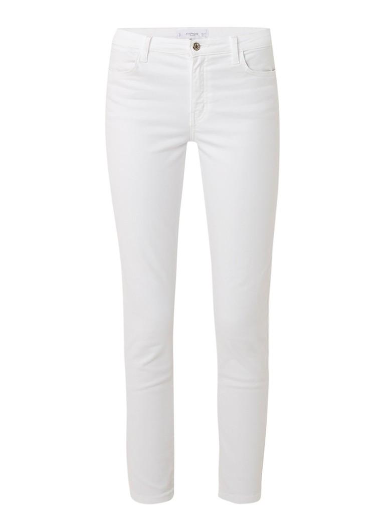 MANGO High rise slim fit jeans met lichte wassing