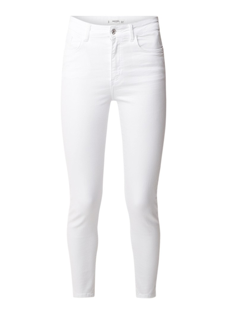 MANGO Noa high rise cropped skinny fit jeans met stretch
