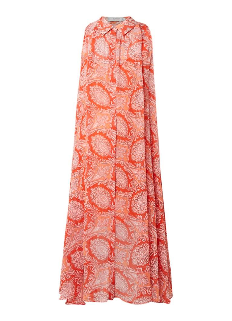 Mango Bengala maxi-jurk met paisleyprint oranje