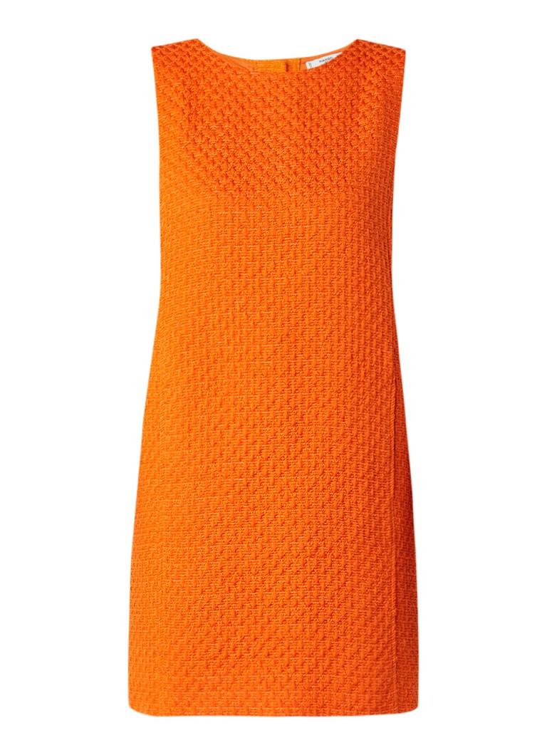 Mango Gofre tuniekjurk van tweed oranje