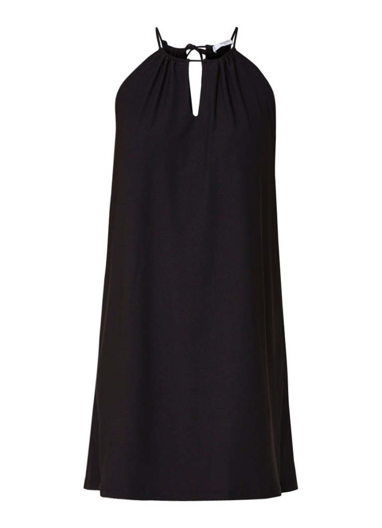 Mango Veri jersey jurk van crêpe zwart