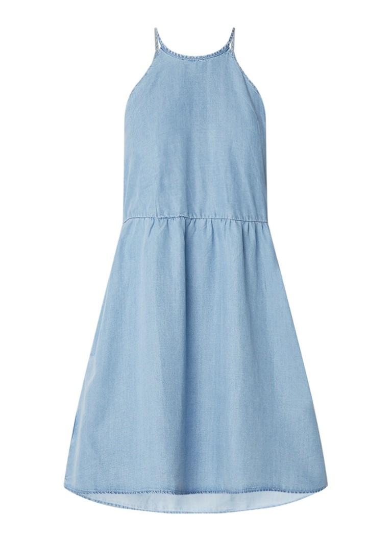 Mango Soroya A-lijn jurk van denim indigo