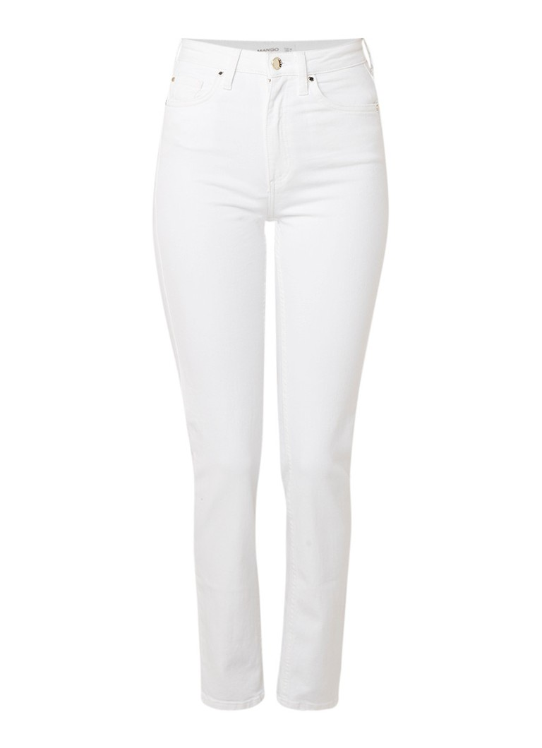MANGO Anna straight fit jeans in lichte wassing