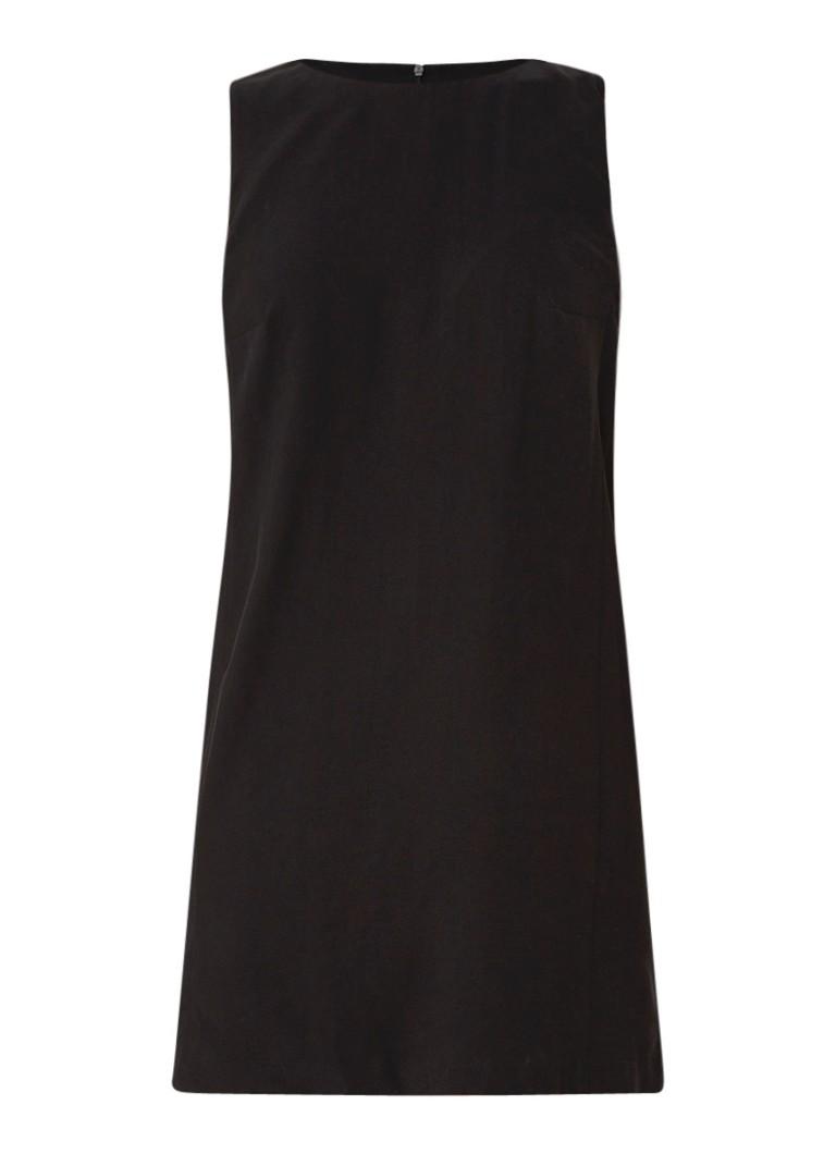 Mango Tika straight fit mouwloze mini-jurk zwart