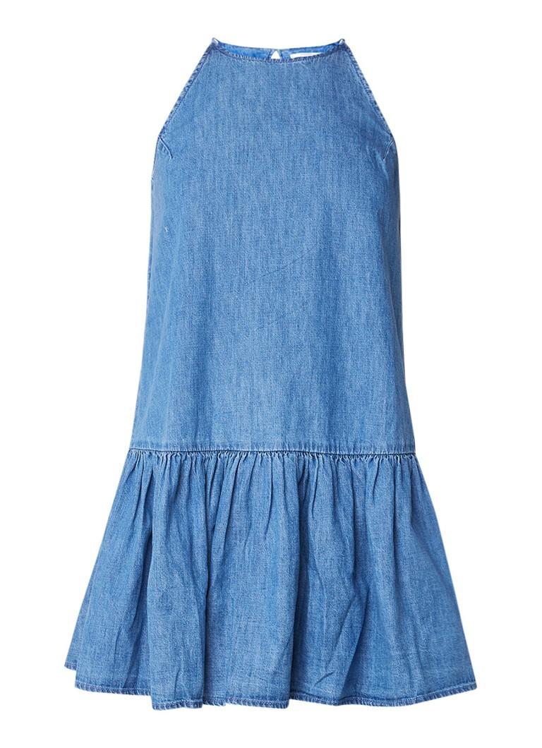 Mango Nina A-lijn jurk van denim indigo