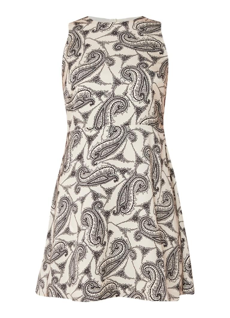 Mango Nora A-lijn mini-jurk met dessin lichtroze