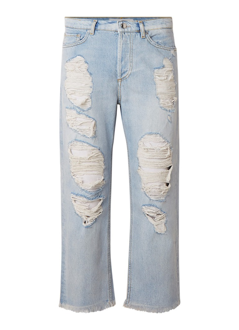 MANGO Bella relaxed fit jeans met destroyed look