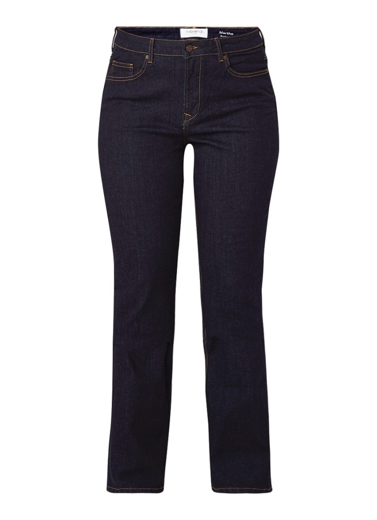 MANGO Martha mid rise bootcut fit jeans met stretch