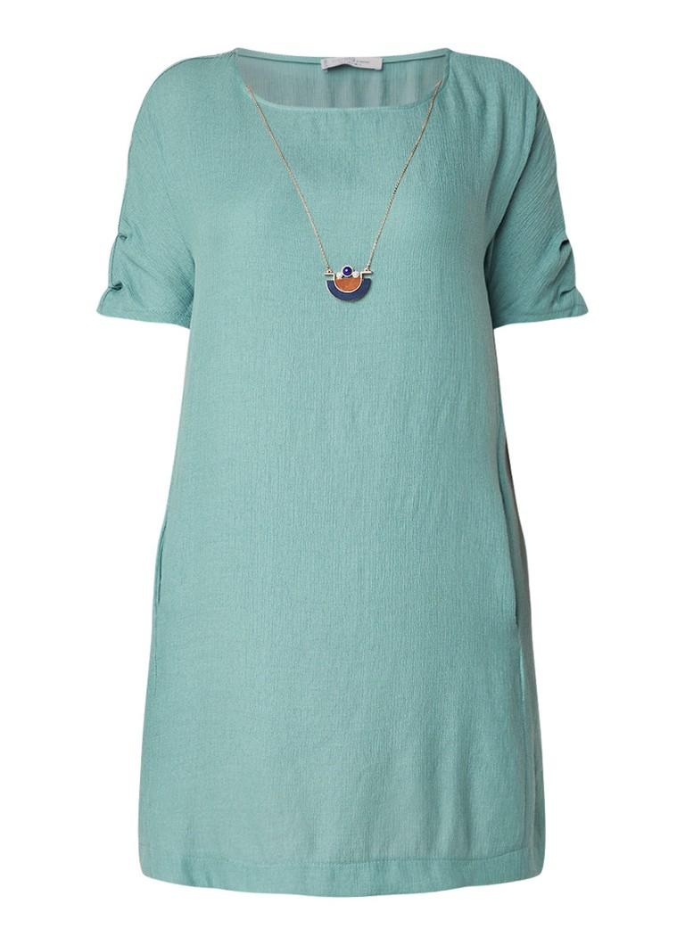 Mango Hera midi-jurk met aangehechte ketting zeegroen
