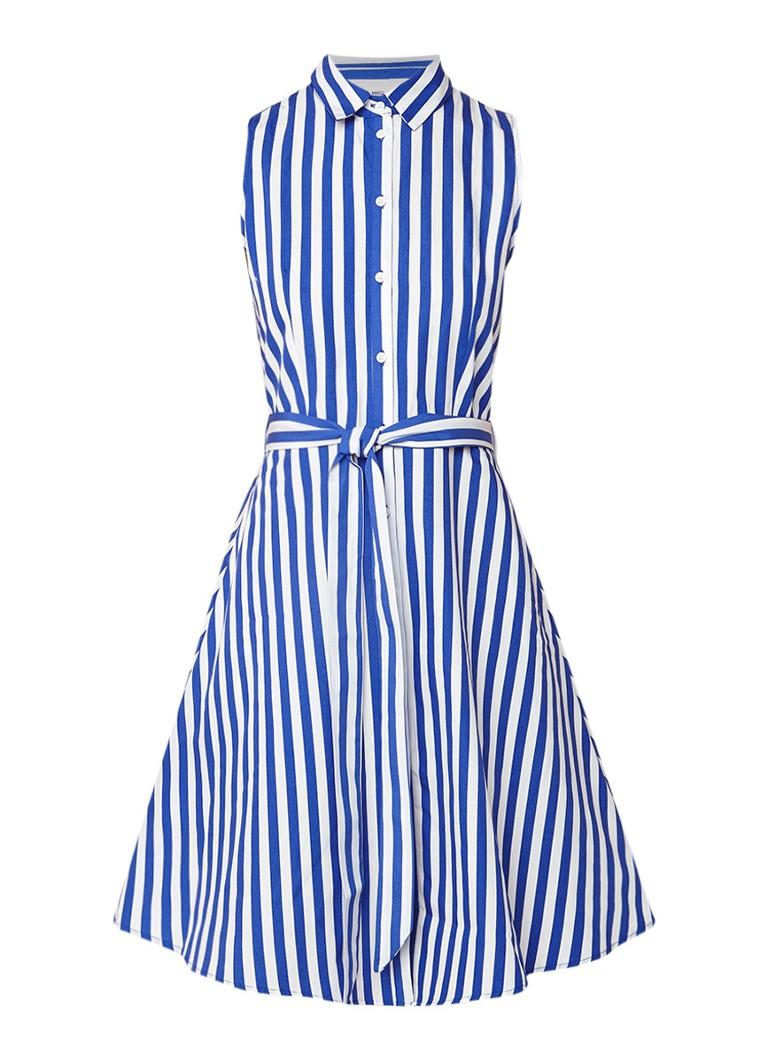 Mango Wendy mouwloze blousejurk met streepdessin blauw