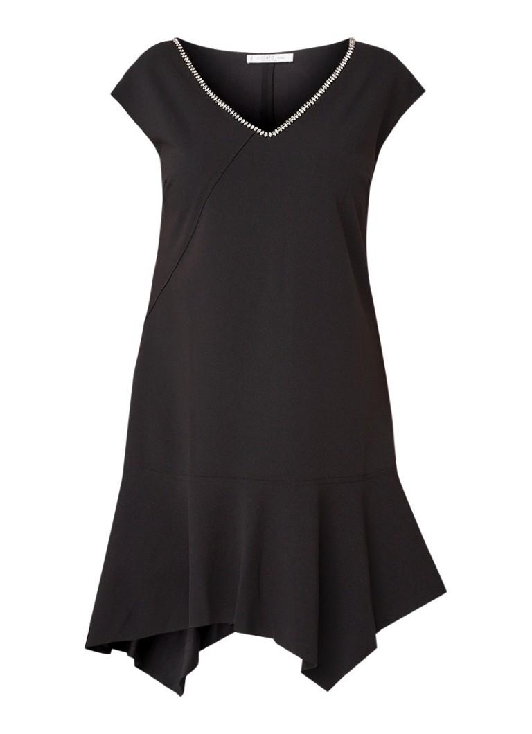 Mango Maravi asymmetrische jurk met strass-decoratie zwart