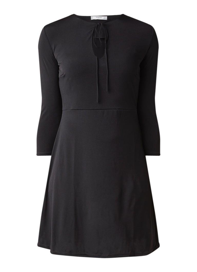 Mango Crosago A-lijn jurk van jersey met koord zwart