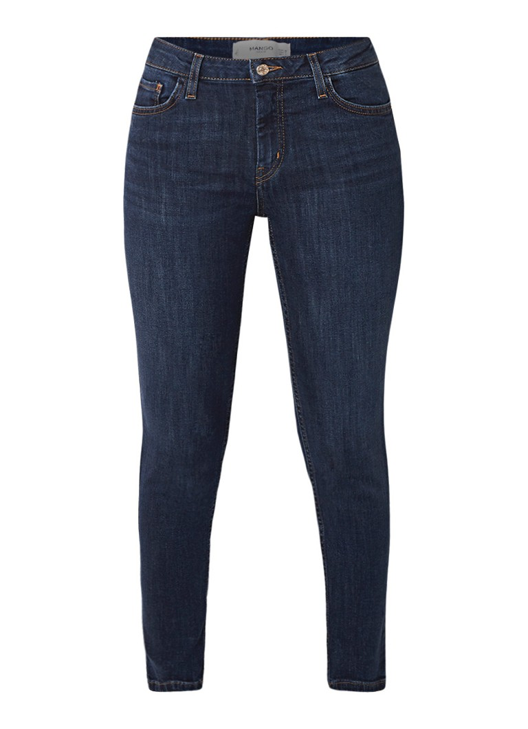 MANGO Mid rise cropped skinny fit jeans met stretch