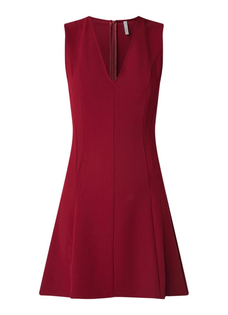 Mango Baba mini-jurk met V-hals donkerrood