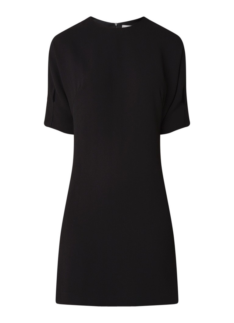 Mango Grapo loose fit mini-jurk met halflange mouw zwart