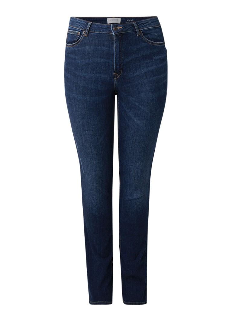 MANGO Mariah push-up high rise slim fit jeans met faded look