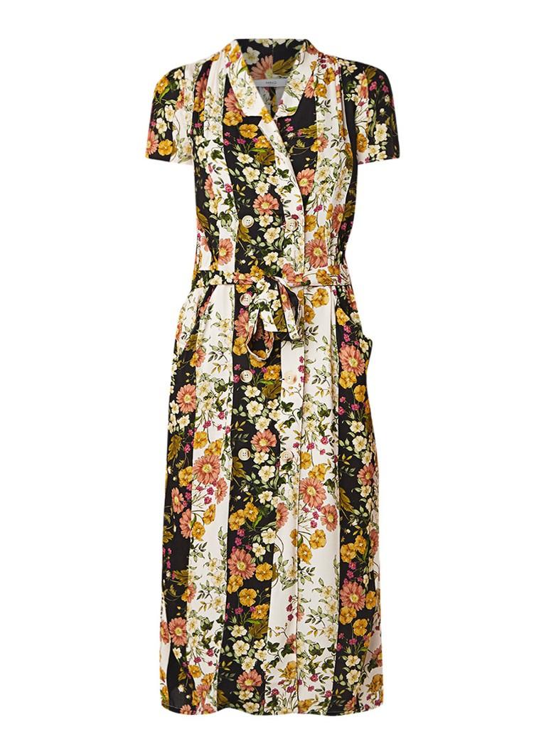 Mango Gracia blousejurk met bloemendessin multicolor