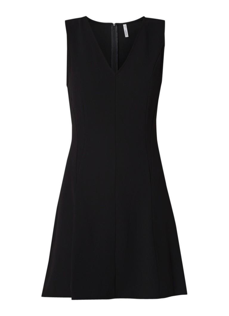Mango Baba mini-jurk met V-hals zwart