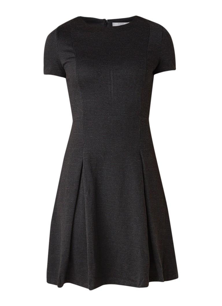 Mango Pinto A-lijn jurk met plissé donkergrijs