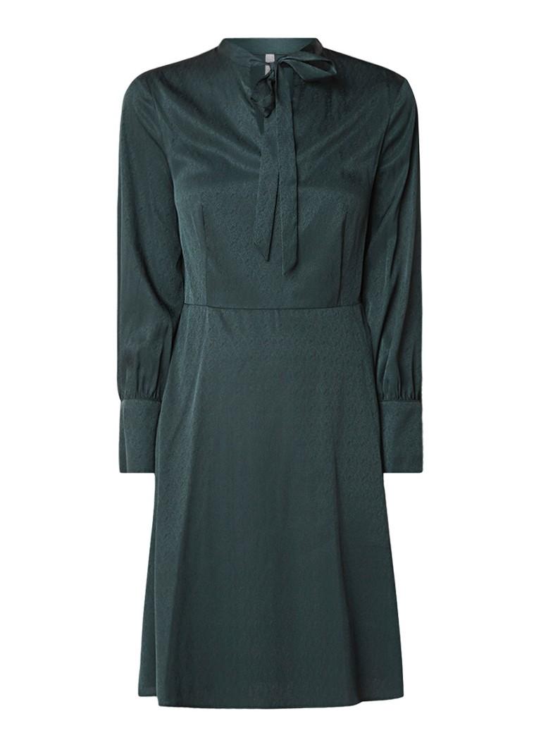 Mango Espiga A-lijn jurk met strikkraag groen