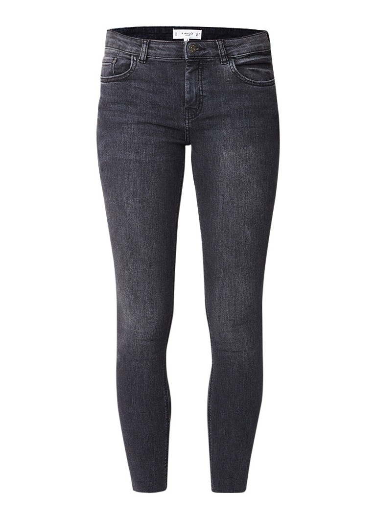 MANGO Isa mid rise skinny cropped fit jeans met stretch