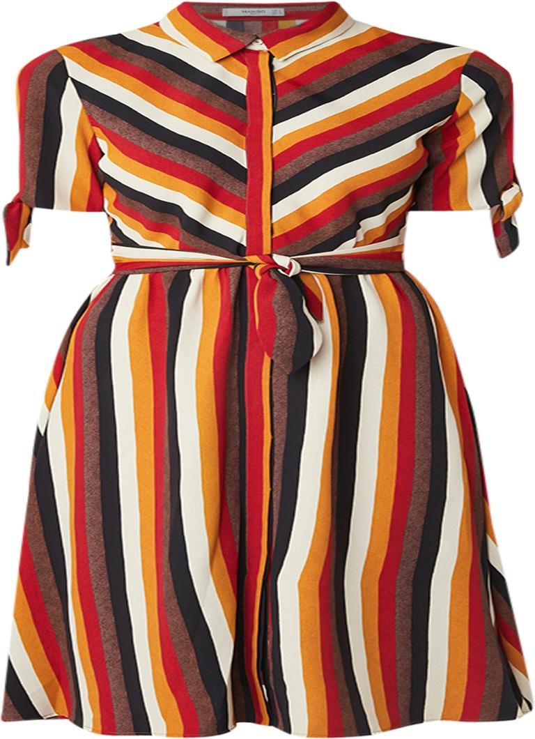 Mango Ptladyra midi blousejurk met streepdessin multicolor
