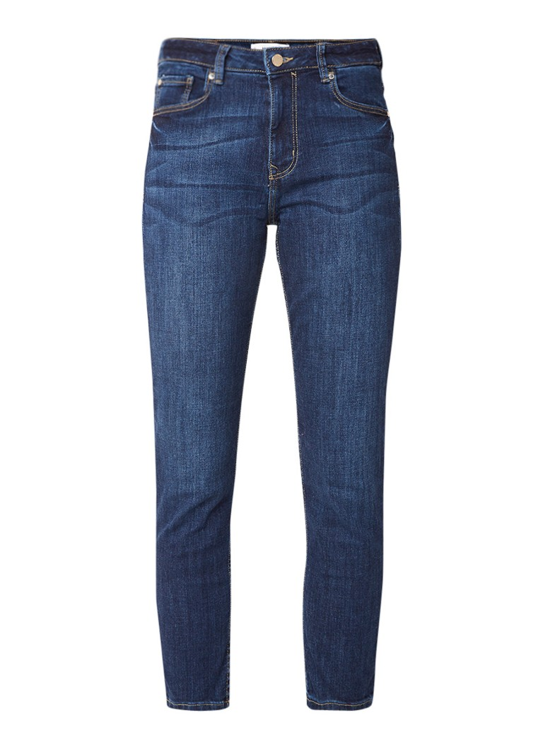 MANGO Lonny mid rise cropped slim fit jeans met stretch