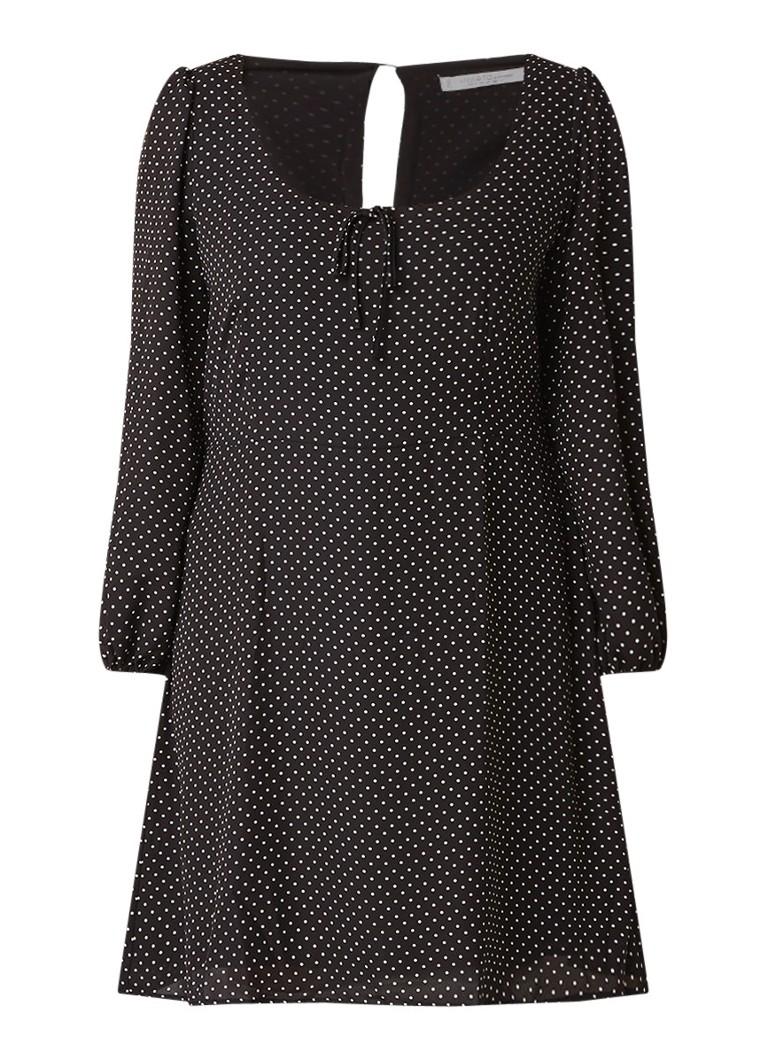 Mango Cortesan A-lijn jurk met polkadotdessin zwart