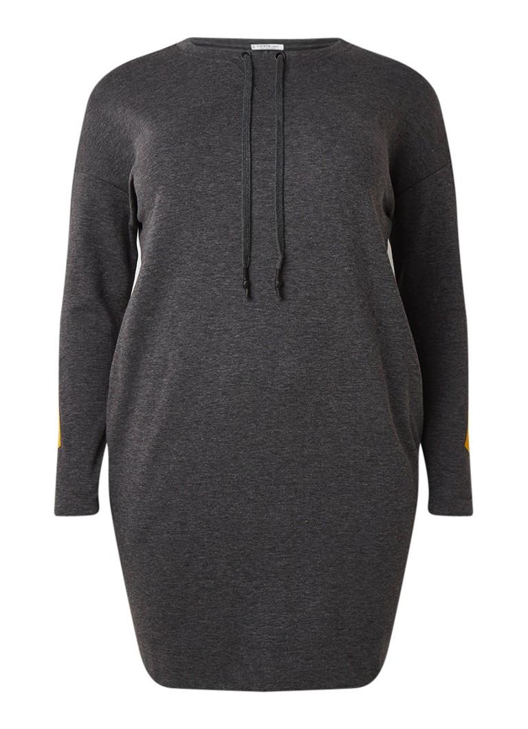 Mango Catalina sweaterjurk met contrastbies middengrijs