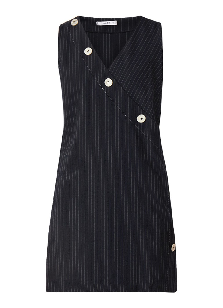 Mango Diploma mini-jurk met streepdessin donkerblauw