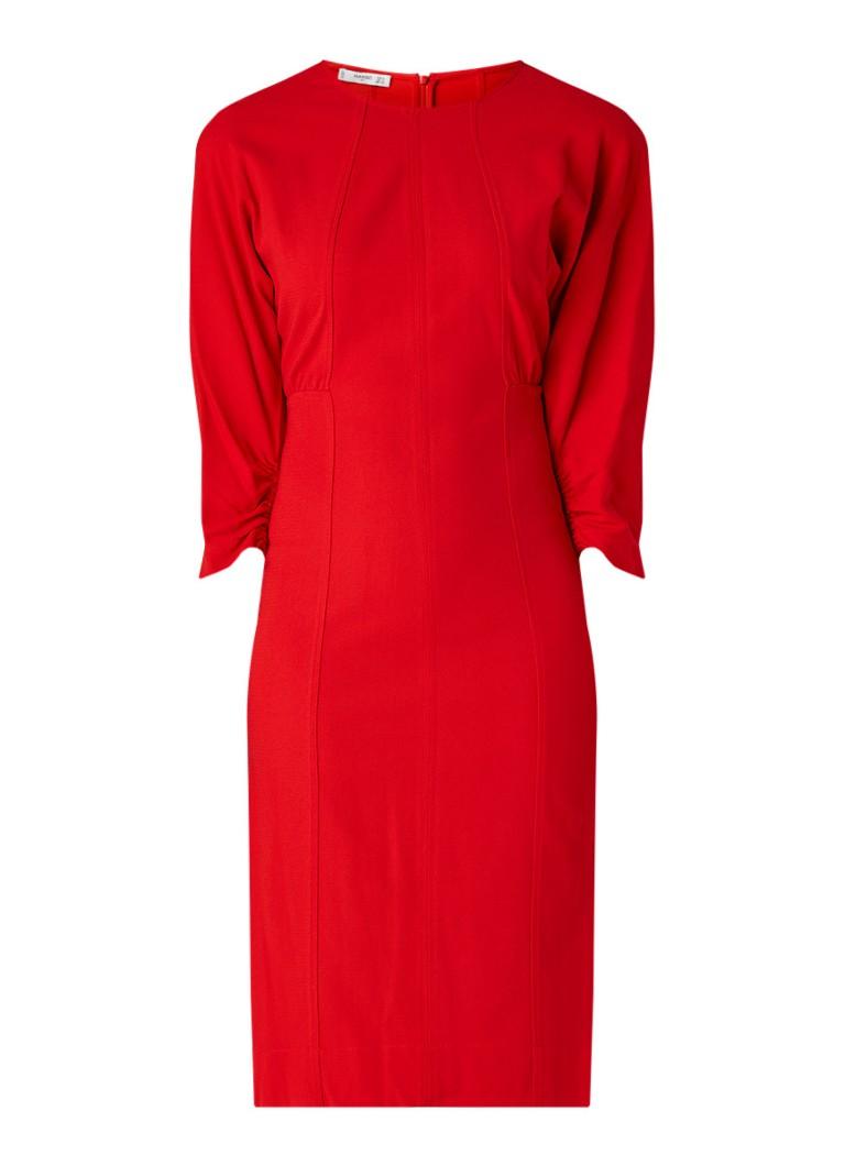 Mango Star midi-jurk met vleermuismouw rood