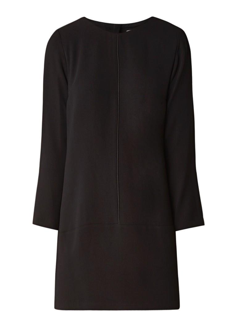 Mango Eva loose fit jurk van crêpe zwart