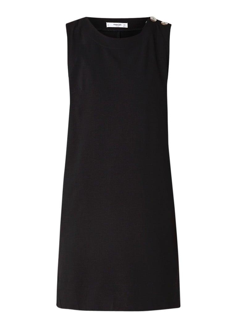 Mango Basique mini-jurk met sierknopen zwart