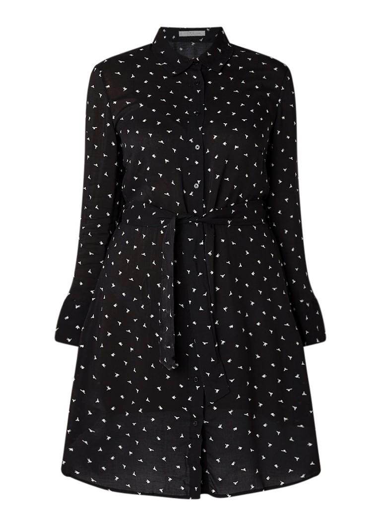 Mango Paloma semi-transparante blousejurk met strikceintuur zwart