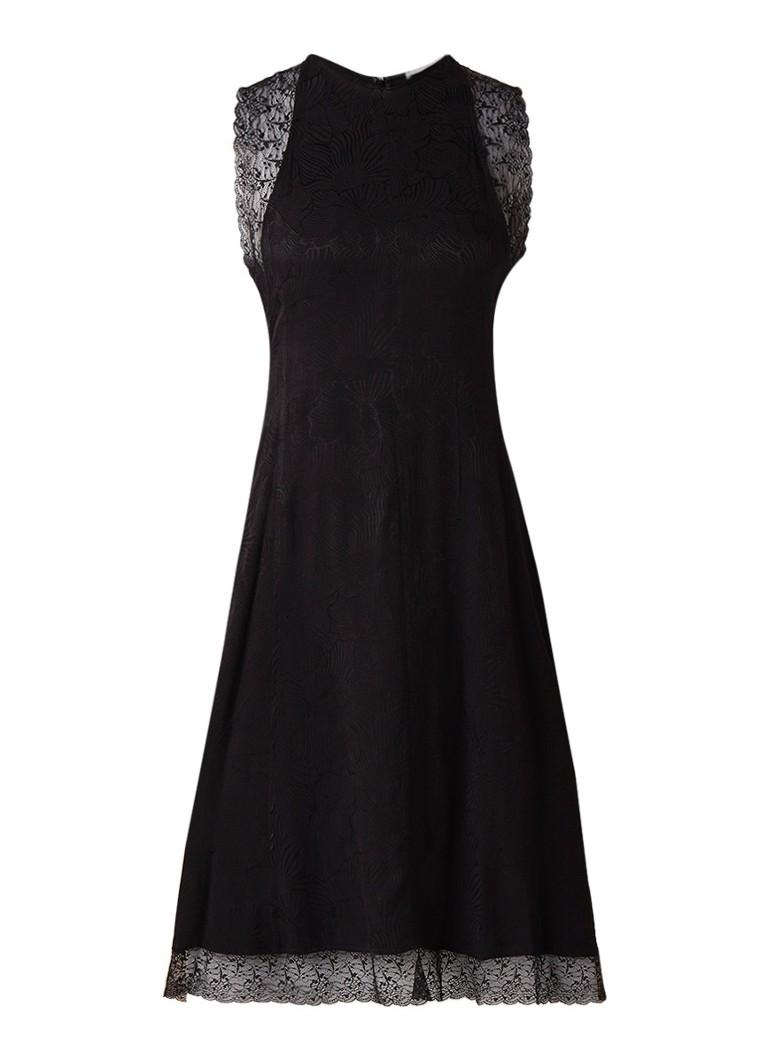 Mango Liona midi-jurk met details van kant zwart