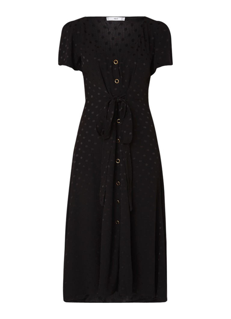 Mango Luna blousejurk met stippendessin zwart