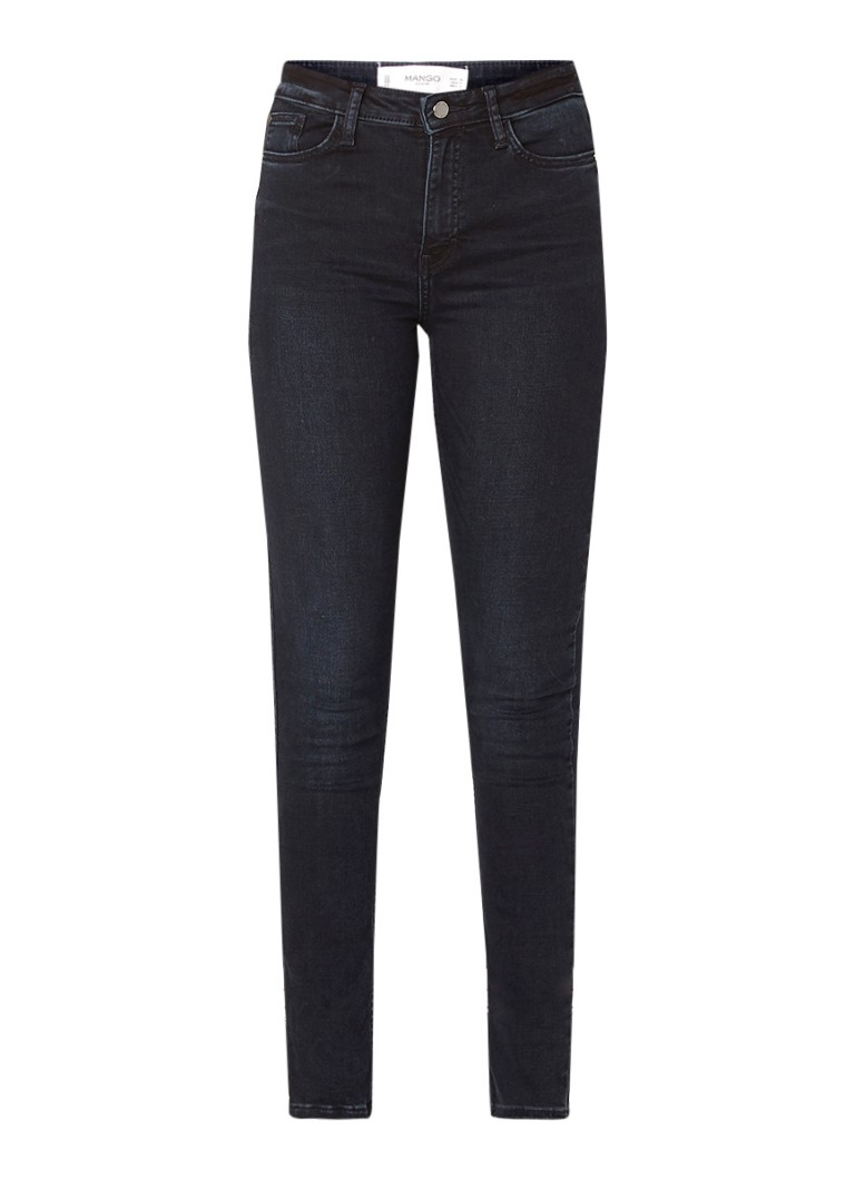 Image of MANGO Soho high rise skinny fit jeans met donkere wassing