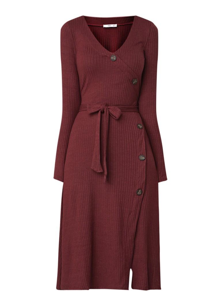 Mango Vescaro ribgebreide jurk met knoopdetailsVVescaro ribgebreide jurk met knoopdetailseVescaro ribgebreide jurk met knoopdetailssVescaro ribgebreid