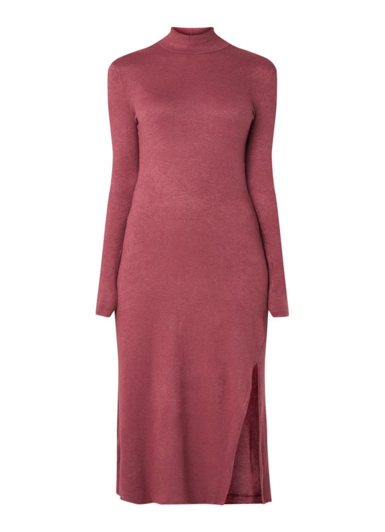 Mango Angelina fijngebreide maxi-jurk met split donkerroze