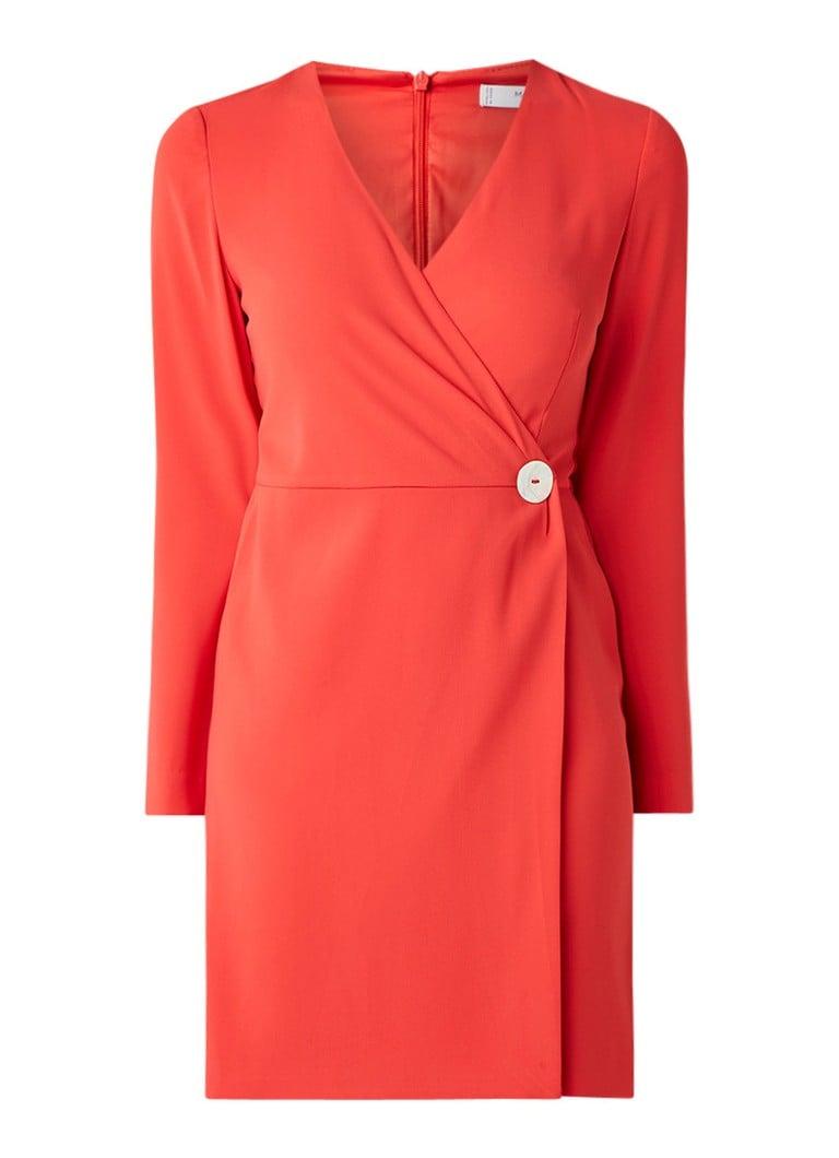 Mango Milly midi-jurk met overslag rood