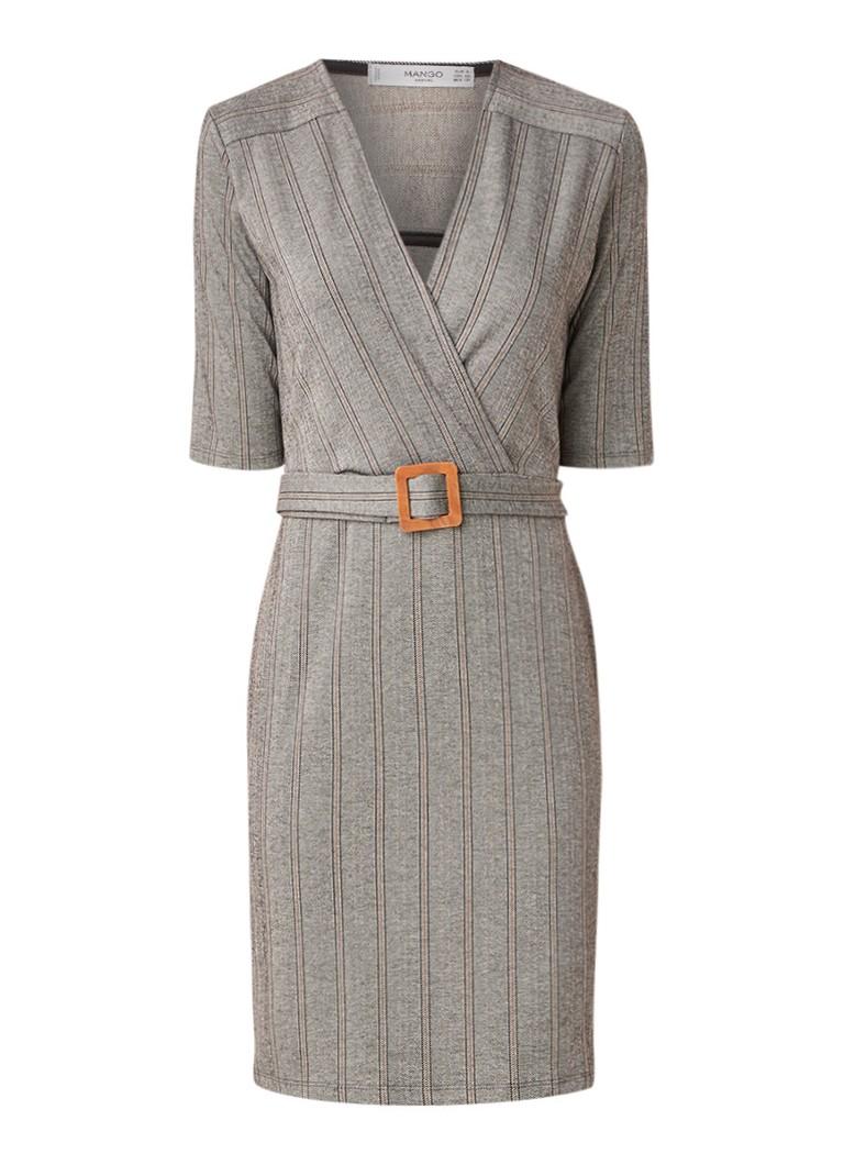 Mango Knot mini-jurk met visgraatdessin en ceintuurKKnot mini-jurk met visgraatdessin en ceintuurnKnot mini-jurk met visgraatdessin en ceintuuroKnot m