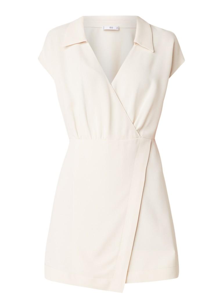 Mango Garazi mini-jurk met overslag ivoor