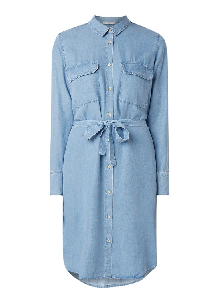 Mango Newsusy denim blousejurk van lyocell indigo