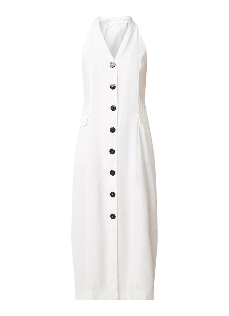 Mango Trani losvallende jurk met knoopsluiting gebroken wit