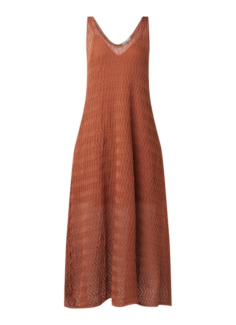 Mango Furco mouwloze maxi-jurk oranje