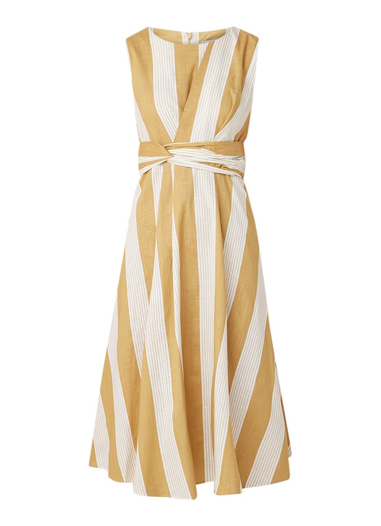 Mango April midi-jurk met strikdetail donkerbeige