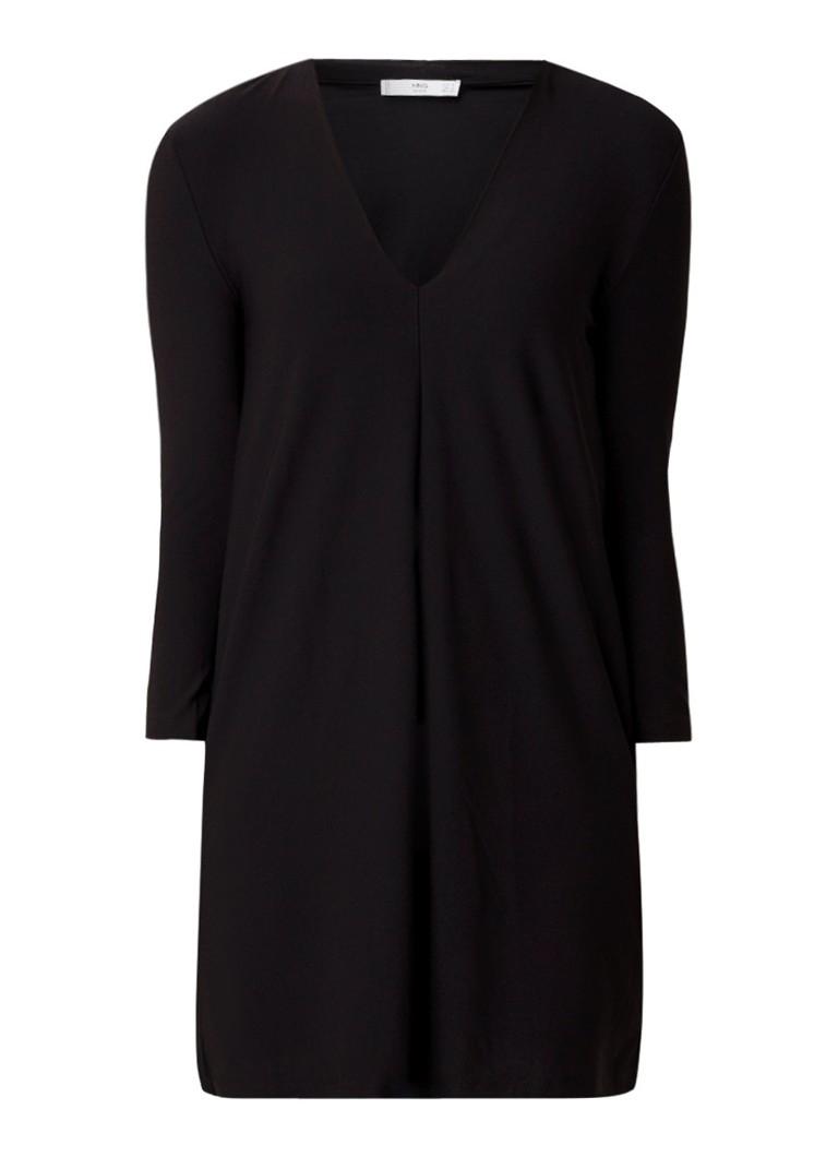 Mango Monki minijurk van jersey met V-hals zwart