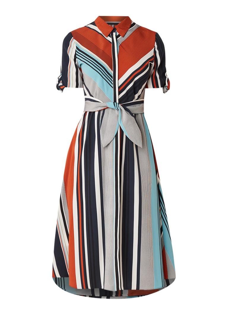Mango Ladyra A-lijn blousejurk met streepdessin donkerblauw